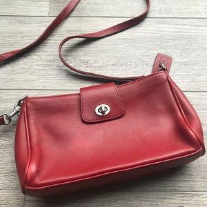 Vintage Red COACH Crossbody Bag w/Silver Hardware